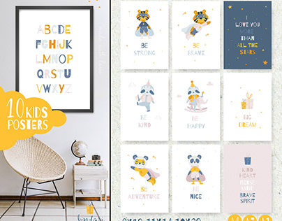 Kids posters with motivational quotes