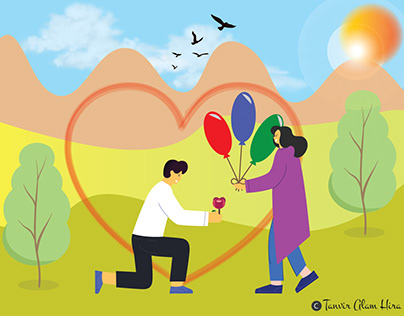 Love Proposal Illustration