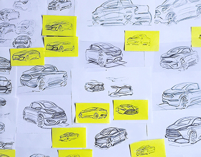 Ford City Pick-Up, Automotive sketches