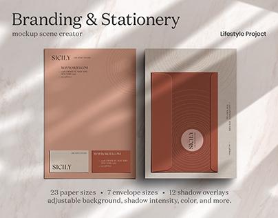 Branding & Stationery Mockup Scene Creator