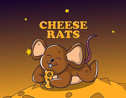 Cheese Rat Illustration