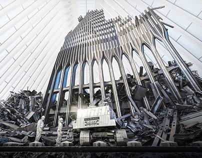 3D Animation of Steel Standing Memorial