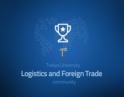 Trakya University Logistics & Foreign Trade Logo Design