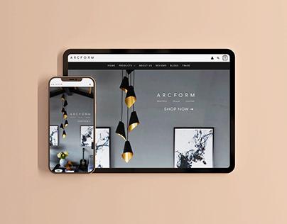 ARCFORM - eCommerce Website Design