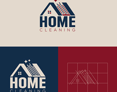 Home Cleaning Logo Template