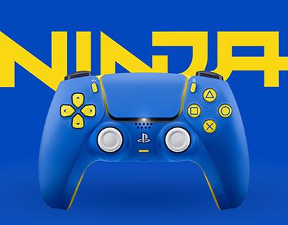NINJA x PlayStation 5 DualSense Controller Concept