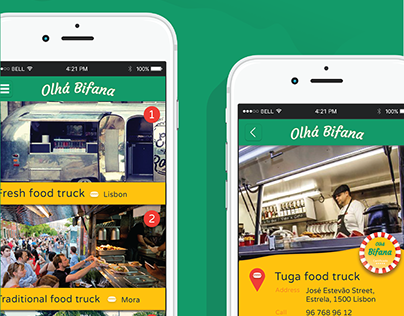 Olhá Bifana - Mobile App Concept | Branding | UI