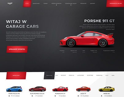 Car Rental Website UI Layout Design