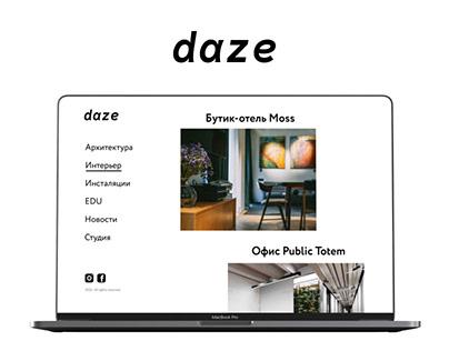 Daze — website design