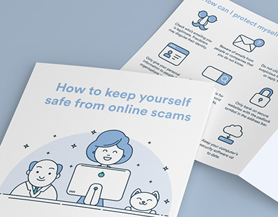 Illustration & Icons For Square Trifold Brochure - NZBA