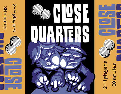 CLOSE QUARTERS card art, packaging, and logo