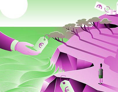 Ilustracion Editorial para La Directa