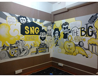 SnG Comedy: Wall Mural
