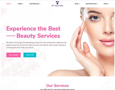 BeautyZone Beauty Spa Salon WordPress Theme Customized