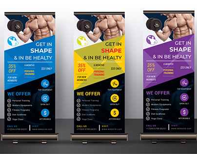 Fitness Gym Roll-up Banner