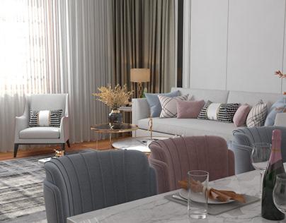 Дизайн проект 4-х комнатной квартиры