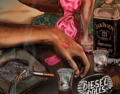 Diesel Dolls Album Cover Illustration