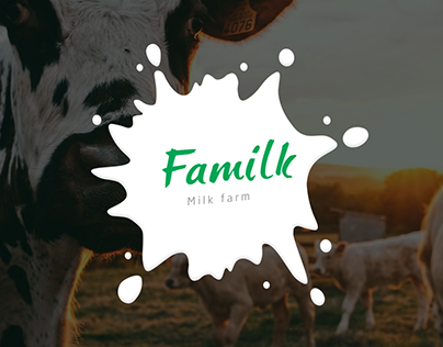 Landing page for milk farm Familk