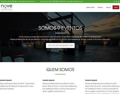 Project Website 9 Eventos