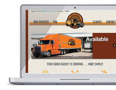 Logo and Website Design - Titan Cargo Agency