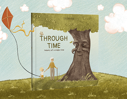 """Silent book """"Through time. History of a single tree»"""