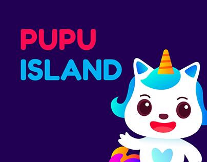 PUPU ISLAND brand & character