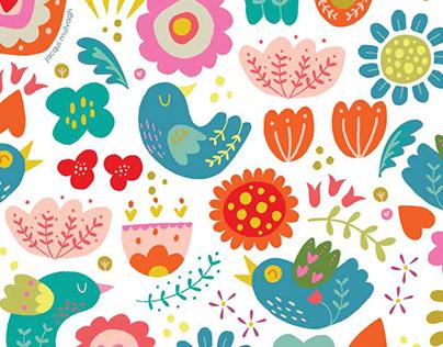 Floral Folksy in Fresco