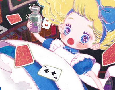 Alice in the anaglyph artworks ~ アナグリフの国のアリス