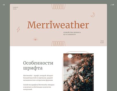 Merriweather google font website