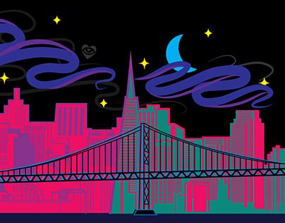 SF Bay Bridge Skyline