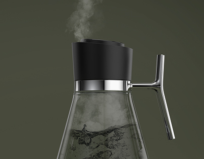 Elevated Glass Kettle