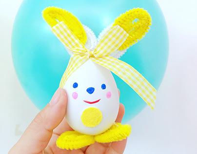 Rabbit on egg