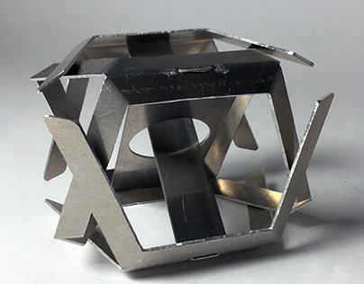 Aluminum Platonic Solid Abstraction