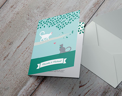Wedding Invitations – Cats