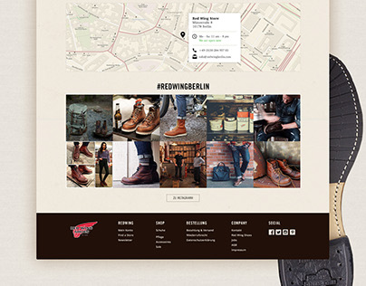 RedWing Shoes · Website