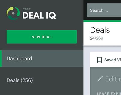Deal IQ Single Deal List UI/UX