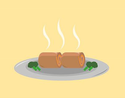 Visual Recipe Video - Ham & Chicken Rollups