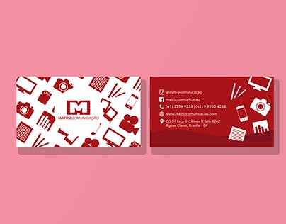 Cartão de visitas | Matriz Comunicação