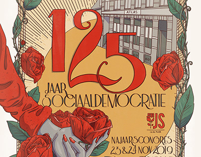 Cover design 125 years of social democracy