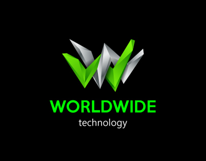 Worldwide technology. Special polygonal logo design.