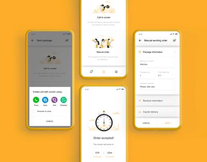 EasyPost - Delivery App | UX, UI