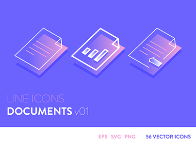 Line Icons - Documents