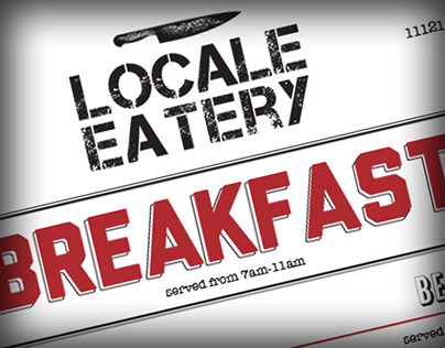 Locale Eatery Breakfast/Lunch Menu
