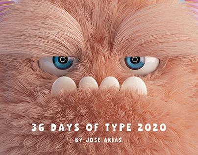 36 Days Of Type - 2020 Monster