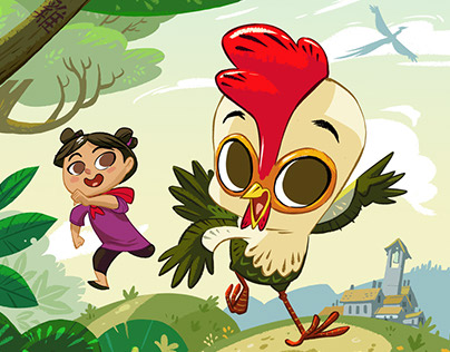 """The Year of the Rooster"" Illustrations"