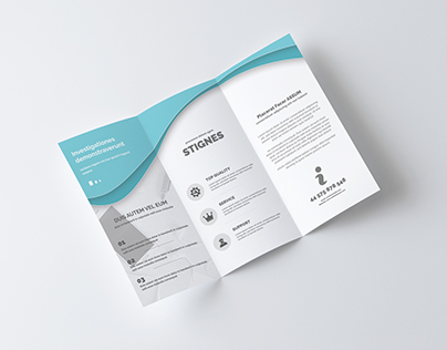 Multipurpose Business Trifold brochure