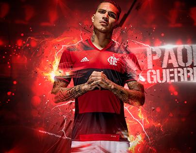 Arte feita como treino para o atacante do Flamengo.