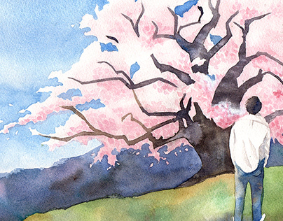 iilustrations about Japan