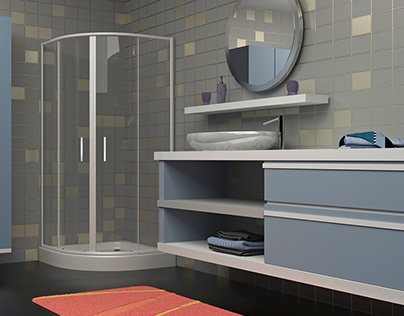 Visualization of shower cabins