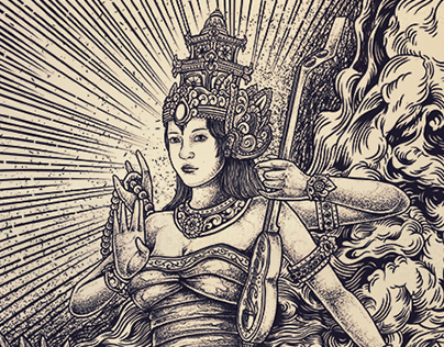 Sarasvati Goddess   Design available for sale